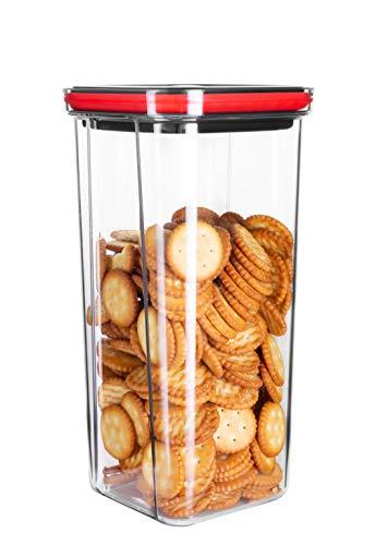 Miuly 2000ml 貯蔵タンク 角型保存容器密封湿気を防ぐキッチン収納瓶 パスタ 小麦粉 米 コーヒー豆食品貯蔵タンク