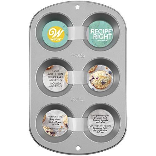 Wilton Recipe Right Muffin Pan, 6-cups