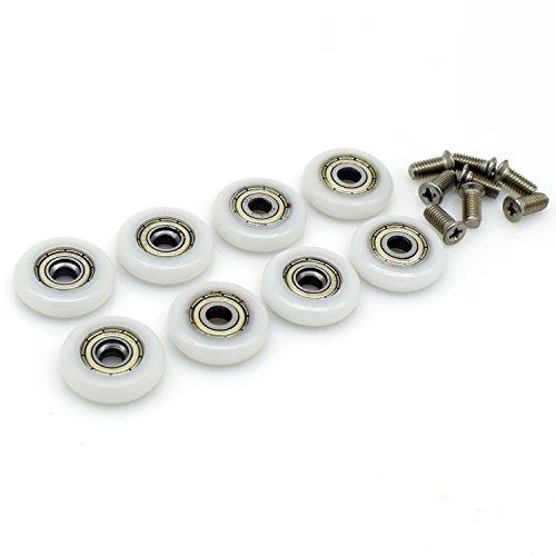 Ruedas de repuesto para puerta de ducha corredera, 8 unidades, 23 mm de diámetro
