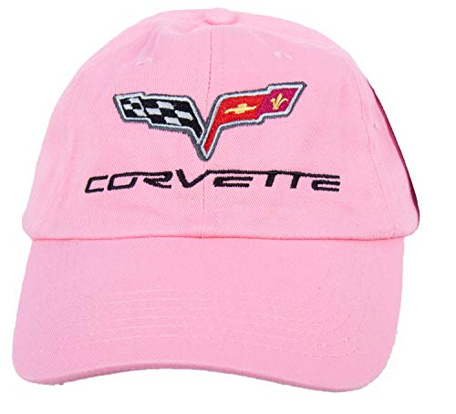 A&E Designs Chevy Corvette C6 Hat Embroidered Cap, Pink