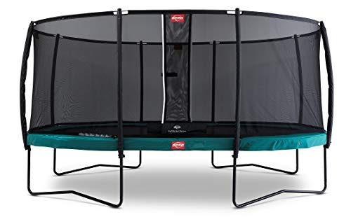 Berg Trampoline Champion Oval 17ft with Safety Enclosure Net Deluxe   Trampoline for Kids, High Performance & Safety Features, Jump Higher with Airflow