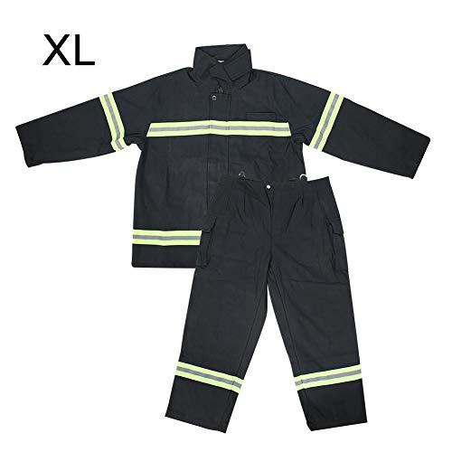 Flammhemmende Kleidung, Feuerfeste Hitzebeständige Kleidung, Feuerwehr-Schutzmantelhose für Beständige Hohe Sichtbarkeit(XL)