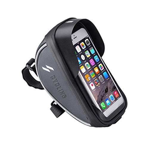 CT-CT Carry Bag Outdoor Bicycle Contact Screen Waterproof Mobile Phone Bag Mountain Large Capacity Front Bag Cycling Handlebar Bag Cycling Equipment Compatible With Less Than 6.0Inch Mobile Phone Bicy