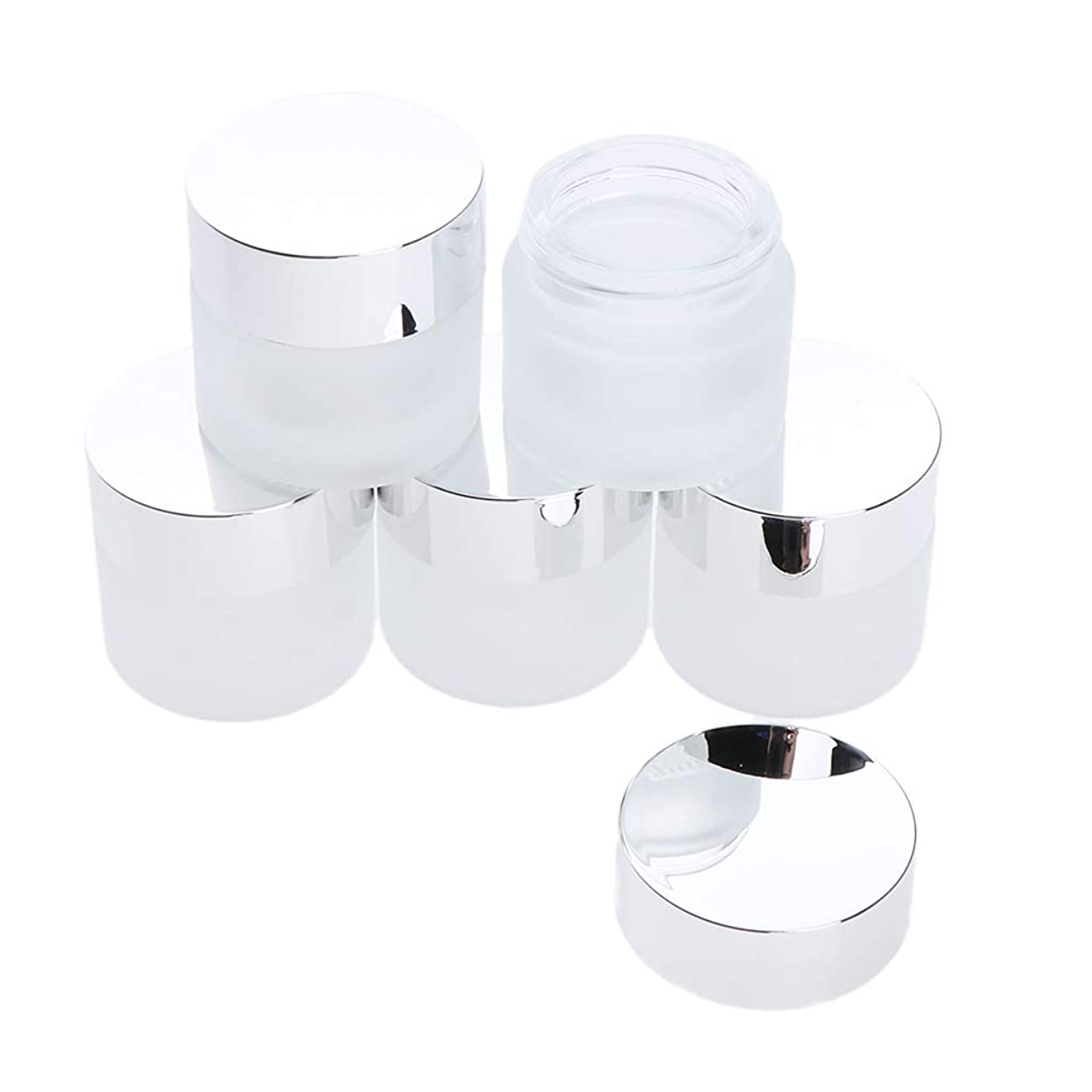 無限大経過火炎Perfeclan 5個 ガラス製 空き缶 フェイスクリーム ボトル 化粧品容器 小分け容器 詰め替え 全2サイズ - 10g