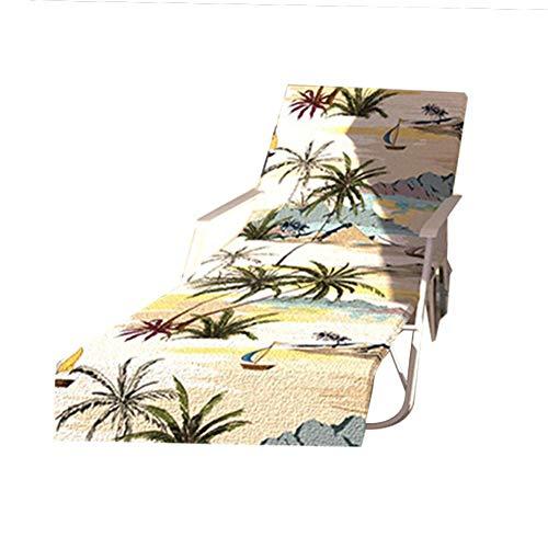 perfecti Mikrofaser Garten Sonnenliege Handtuch Stuhl Strandtuch Tragbar Schonbezug Für Gartenliege Mit Taschen - Schnell Trocknende Handtücher (Ca.75x215 cm)