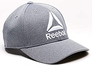 Delta Logo Heathered Snapback Hat (Adjustable One-Size, Grey)
