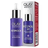 Olay Retinol 24 Sérum de noche, Sérum retinol sin fragancia para una piel suave y radiante, 40 ml