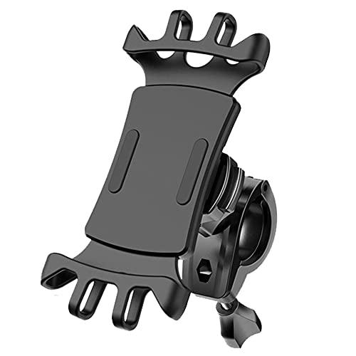 KEUNGSHEK Soporte de teléfono móvil para bicicleta, extraíble 360°, ajustable, soporte universal para teléfono móvil, para todos los teléfonos móviles, color negro
