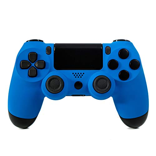 Crazy Controllerz Wireless Controller for Playstation 4 - Soft Touch Blue PS4 - Added Grip for Long Gaming Sessions - Multiple Colors Available