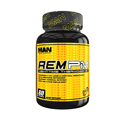Man Sports REM PM. Nighttime Sleep Aid and REM Supplement. Weight Loss Night Time Fat Burner