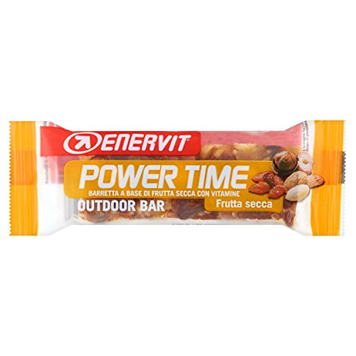 Enervit Power Time Baretta a Base di Frutta Secca con Vitamine, 35g