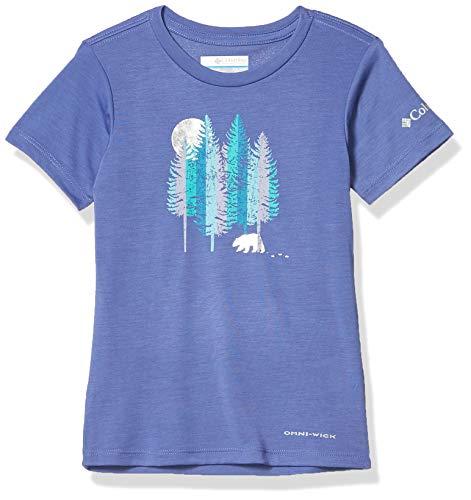 Columbia Ranco Lake Camiseta Estampada De Manga Corta, Unisex Niños, Violeta (African Violet Grizzly Grounds), L
