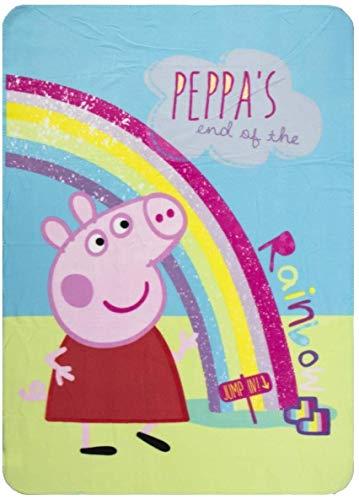 Peppa Pig Manta de forro polar para niños, 100 x 140 cm