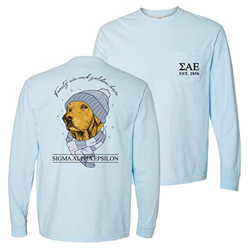 SAE Comfort Colors Winter Retriever Tee Blue