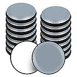 VABNEER Deslizadores para Muebles, 16 Piezas PTFE Teflón Redondos Autoadhesivos Planeadores para muebles, Mover Muebles Pesados para Pisos Lisos (Redondos, 20mm)