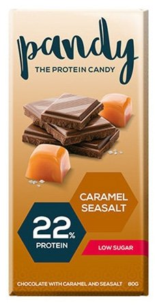 Pandy Protein Chocolate 6 Candies, Chocolate with Caramel and Seasalt