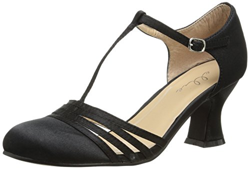 Ellie Shoes Women's 254-lucille, Black, 8 M US
