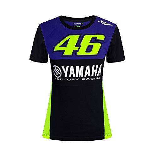 VALENTINO ROSSI Yamaha Dual Racing T-Shirt pour Femme, Femme, T-Shirt, YDWTS362409005, Bleu Royal, XS