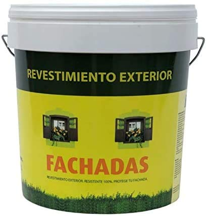 Pintura exterior fachadas Pectro | Pintura antihumedad | Pintura antimoho | Revestimiento exterior impermeable color Blanco (5KG)