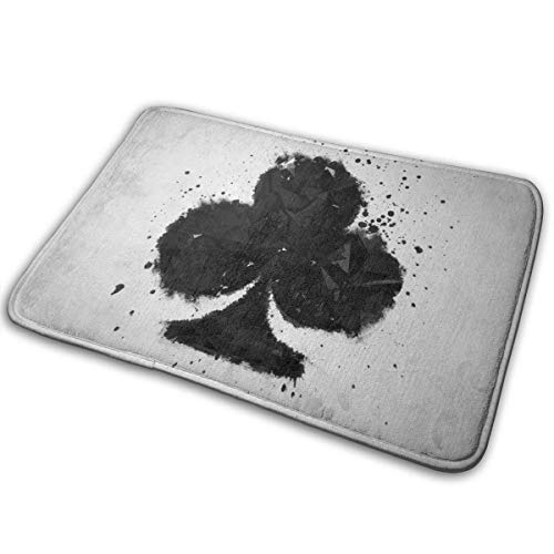 Badematte, Fußmatte zur Begrüßung, Fußmatte für den Eingangsbereich, Teppich für den Innenbereich, Außentürmatte mit rutschfester Gummiunterlage, Bedrucken von Fußmatten mit Spielkarten-Club-Logo