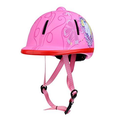 Tiamu Kinder Kinder Einstellbare REIT Hut/Helm Kopf Schutzausruestung - Rosa