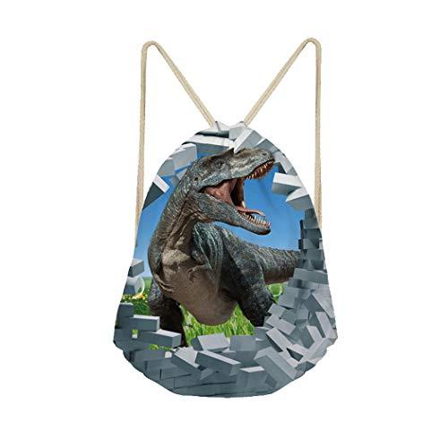 Showudesigns - Mochila con cordón para deportes al aire libre, gimnasio, diseño de dinosaurios, Infantil, Z-CC2285Z3, Animal 10, Talla única