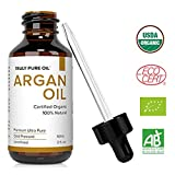 Truly Pure Oil Organic Argan Oil For Hair, Skin, Face and Nails, 100% Natural Argon, Cold Pressed,...