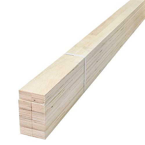 スターワン 木材 ポプラ マンション間柱 約270×2.7×4cm 978769 10個セット