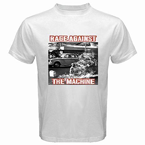 New Rage Against The Machine RATM '92 Rock Band Men's White Tshirt Size S3Xl