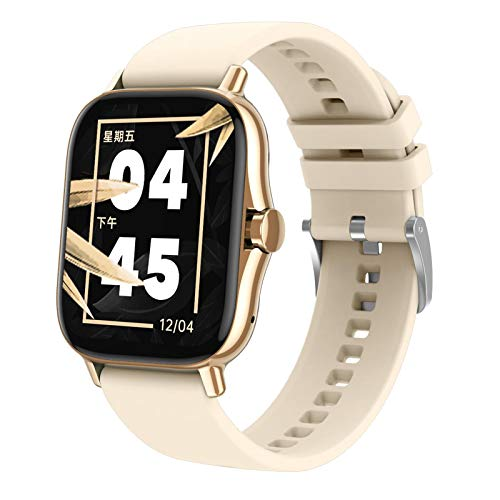 Kesoto Relógio inteligente DW11 IP67 à prova d'água com contador de passos para homens e mulheres, monitoramento de passos, saúde e fitness, pressão arterial – Dourado