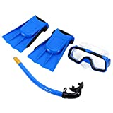 Kids Snorkel Set Diving Set Swim Goggle Respirar Tube con aletas para...