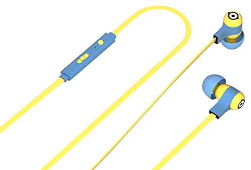 Tribe Minions Auricolari I Cuffie In-Ear Stereo con Microfono per Cellulare e comando multifunzione - Carl