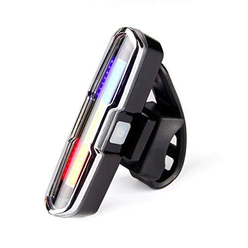 HNXCBH Batería de Litio Recargable USB Frontal luz Trasera for Bicicleta luz Trasera LED Casco Ciclismo luz de la lámpara del Montaje Accesorio de Bicicletas Luces Bicicletas (Color : Black)