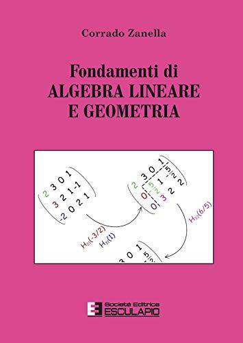Fondamenti di algebra lineare e geometria