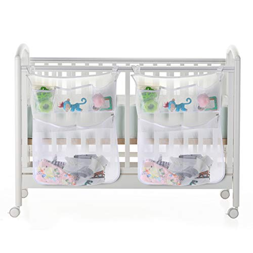 Crib Storage Bag?Baby Organizer for Crib Bed Hanging Storage Bag for Baby Essentials, Suitable for Baby Car, Wall, Table, Toy Diaper Pocket Crib Bedding Set(2 Pack)