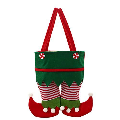 HEVÜY Weihnachts Geschenktaschen Einkaufstaschen Papiertüte Tasche Tote Süßigkeits Tasche Mit Griff Partytüten Einkaufstasche 26x22cm