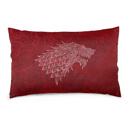 iksrgfvb Pillowcases 16X24inch Winter Wolf Poster. Snow Wolf Head Symbol. Abstract Animal Print Design. Throw Pillow Covers Sofa Car Cushion Cover Home Decorative 40X60CM