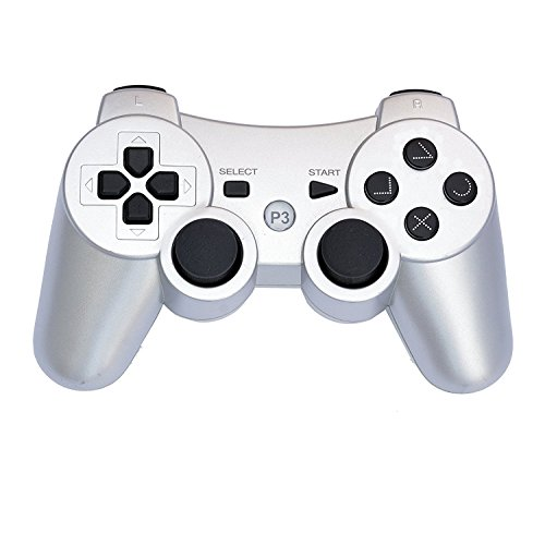 PS3 Wireless Remote Controller Gamepad for use Compatible with Playstation 3 PS3 (Silver)