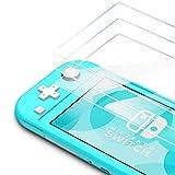 Bewahly Cristal Templado para Nintendo Switch Lite [3 Piezas], Ultra Fino Completa Cobertura Protector Pantalla, 9H Dureza Alta Definicion Vidrio Templado Sin Burbujas para Nintendo Switch Lite 2019