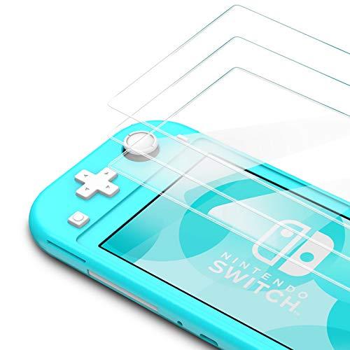 Bewahly Vetro Temperato Nintendo Switch Lite [3 Pezzi], Copertura Completa Pellicola Protettiva in Vetro Temperato per Nintendo Switch Lite [9H Durezza, Anti Graffio, Alta Definizione] - Trasparente