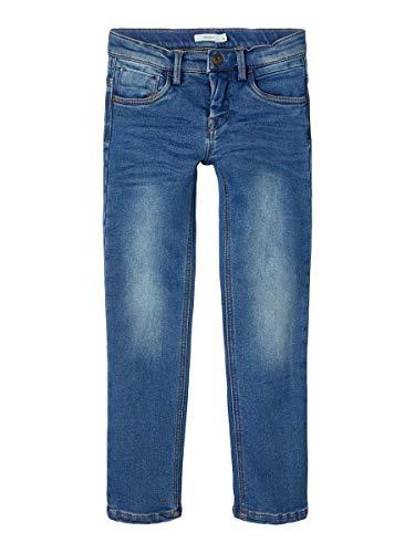 NAME IT Jungen NKMRYAN DNMBATOTOS 2404 Fleece SWE Pant Jeans, Mittelblau, 116
