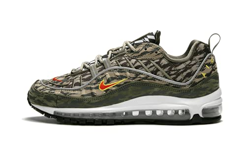 Nike Botas para hombre Air Max 98 AOP AQ4130 (44,5 EU), color caqui/Team Orange-Medium Olive