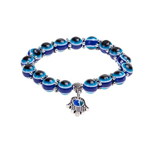 Blue Eyes Design Fashion Crystal Turkish Eye Bracelet Lucky Charm Bracelet for Women and Men Unique Stylish Wrist Chain Beauty Art