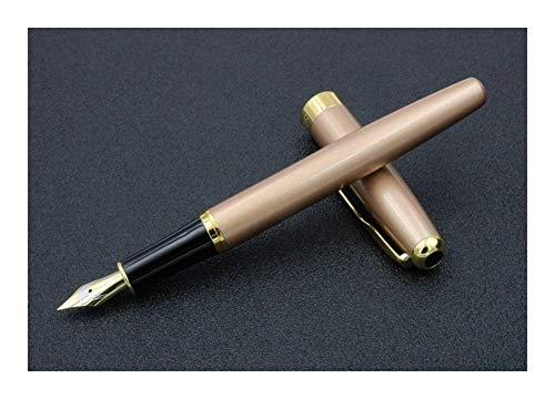 Kantoor Champagne Golden Classic en Mat Zwart Medium Nib Vulpen Champagne Gouden