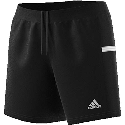 adidas Damen Team 19 Knit Shorts, Black/White, M