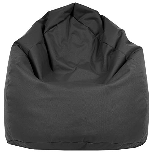 B58-Berlin Sitzsack XL Bag Sitzkissen Bodenkissen Kissen Sack In-und Outdoor 15 Farben (Anthrazit)