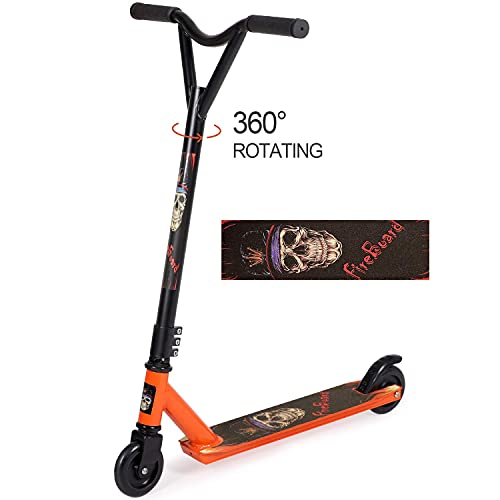 Pro Scooters Trick Scooter - Freestyle Handlebars & 100mm Wheels, Stunt Scooters for Kids 8 Years and Up, Teens, Adults, Boys and Girls