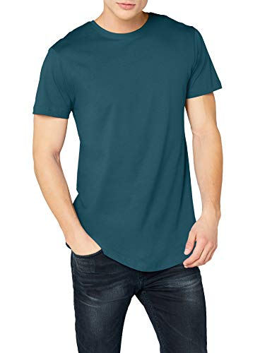 Urban Classics Herren Shaped Long Tee T-Shirt, Türkis (Teal), XL
