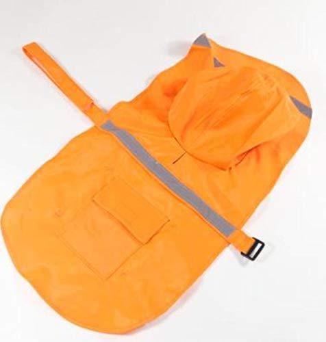 Xinger Nastro Riflettente Grande Cane Impermeabile Cappotto per Cani Vestiti per Animali Cane Impermeabile Cappotto per Cani Cappotto Grande, Arancione, S