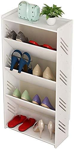 XWZH Zapatero a prueba de polvo, diseño de triángulo inclinado, a prueba de humedad, montaje sencillo, elegante, moderno, multifuncional, color blanco (color: 5 niveles, tamaño: 40 cm)